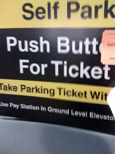 Push Butt For Ticket
