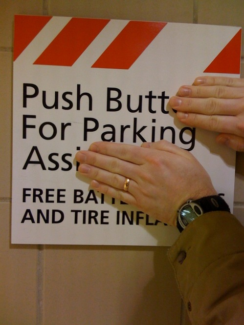 Push Butt For Parking Ass