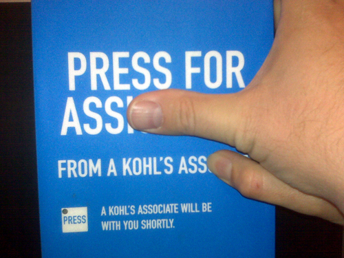 Press for Ass From a Kohl's Ass