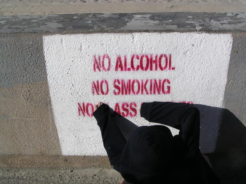 No Alcohol, No Smoking, No Ass