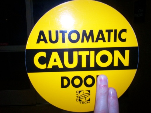 Caution Automatic Doo