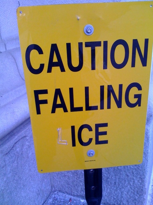 Caution Falling Lice