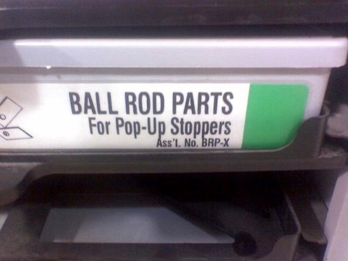 Ball Rod Parts For Pop-Up Stoppers
