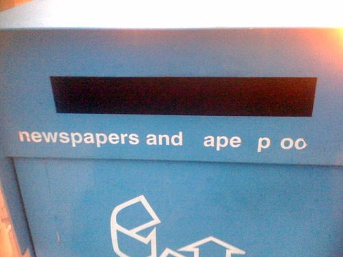 Newspapers and Ape Poo