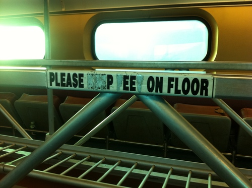 Please Pee on Floor