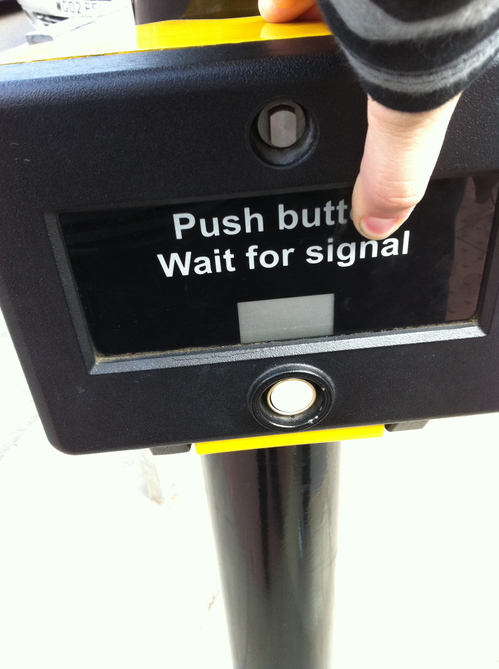 Push Butt Wait for Signal