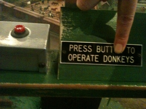 Press Butt to Operate Donkeys